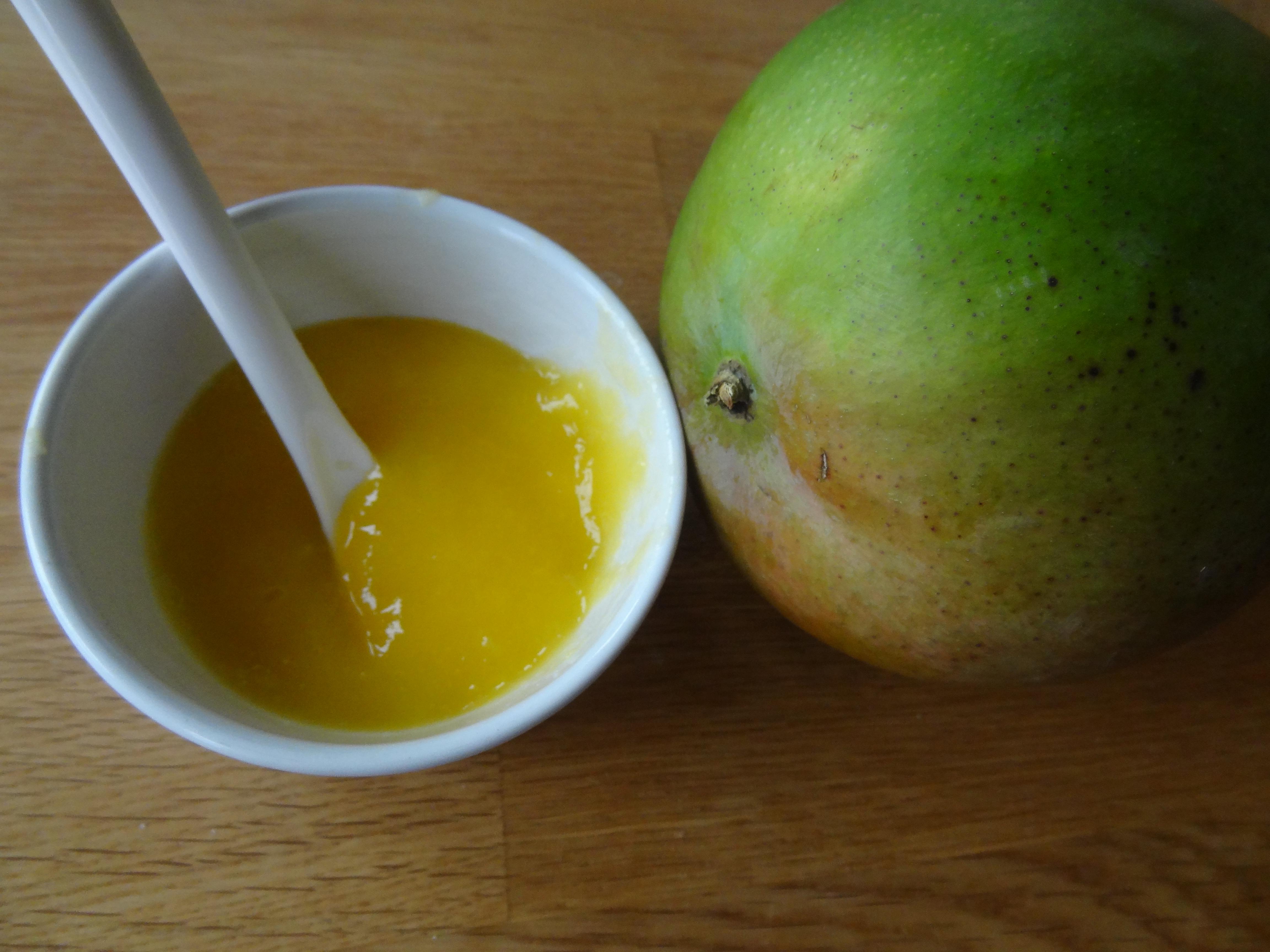 Mango och mangopuré
