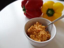 Hummus med grillad paprika