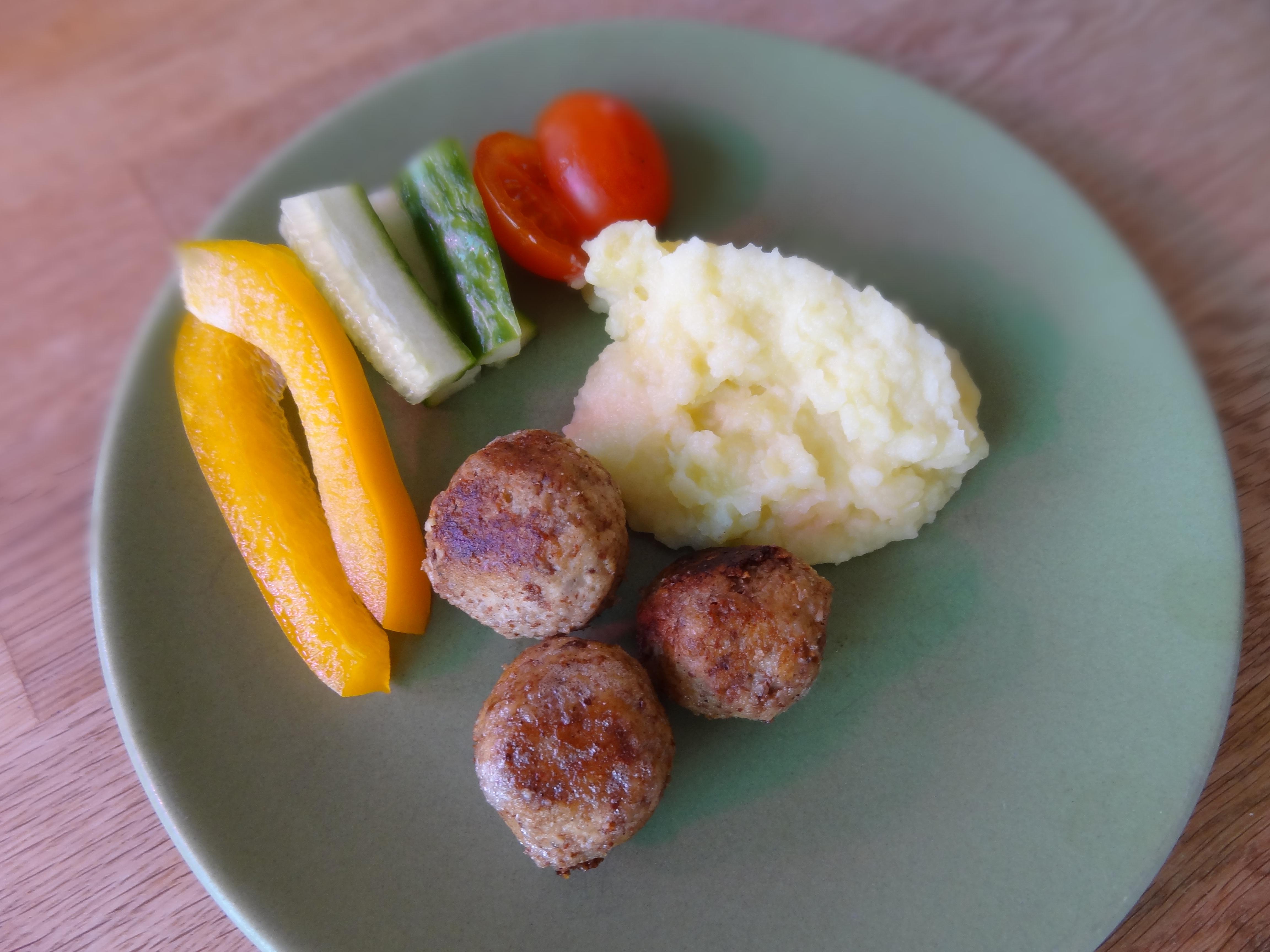 vegetariska köttbullar
