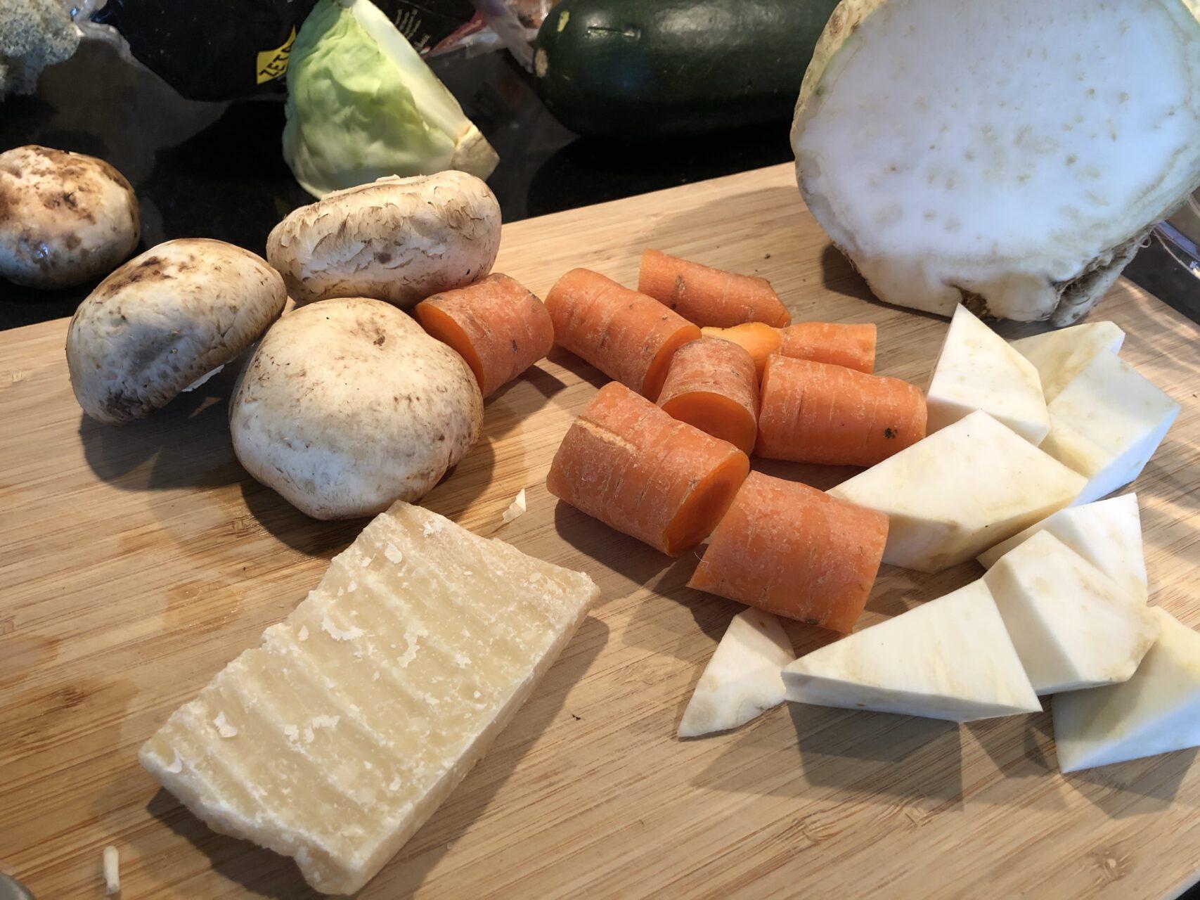 ingredienser till vegetarisk lasagne