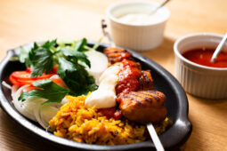 Kebabtallrik med grillad kyckling