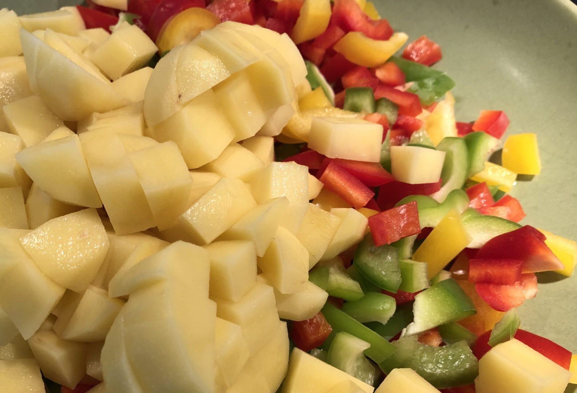 potatis och paprikabitar