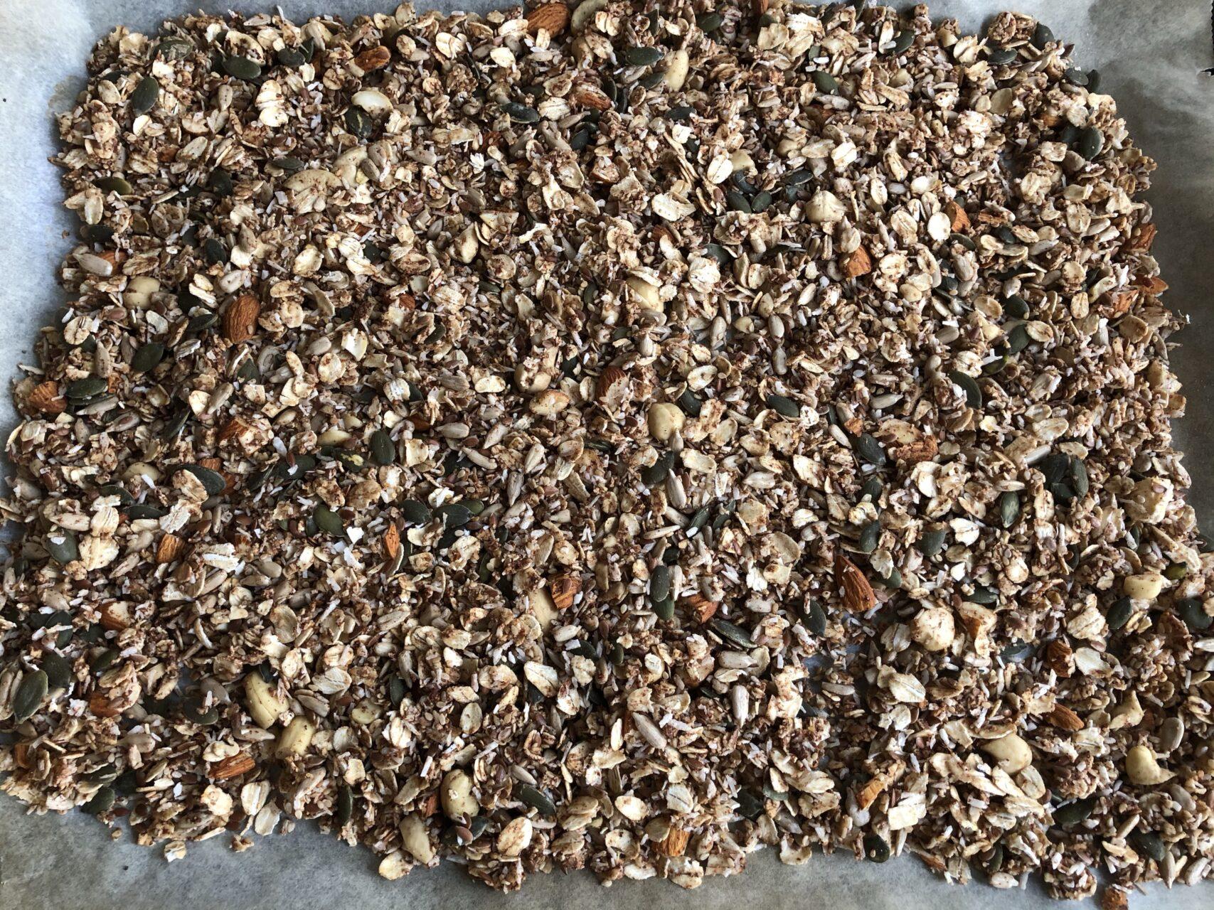 granola innan rostning